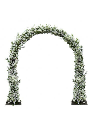 Cherry Blossom Flower Wedding Arch White