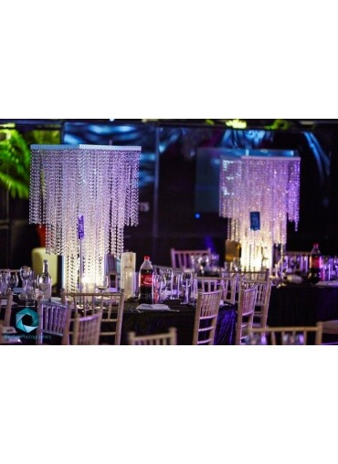 Crystal Square Centrepiece