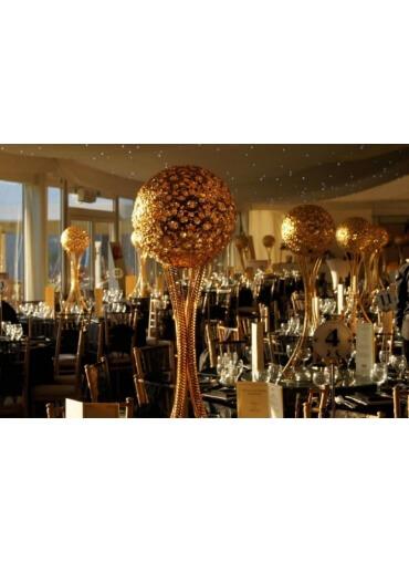 Gold Globes Centrepiece