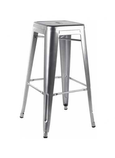 Brush Steel Metal Tolix Style High Bar Stool