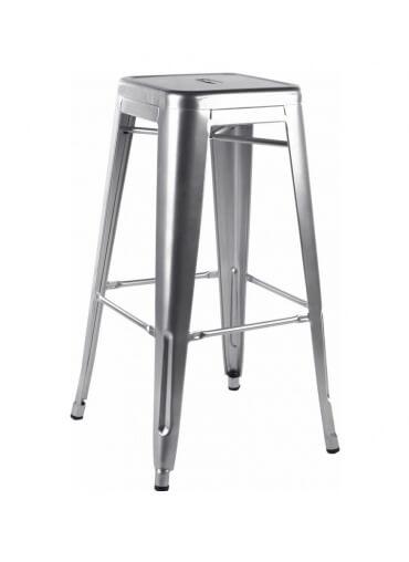 Brush Steel Metal Tolix Style High Bar Stool
