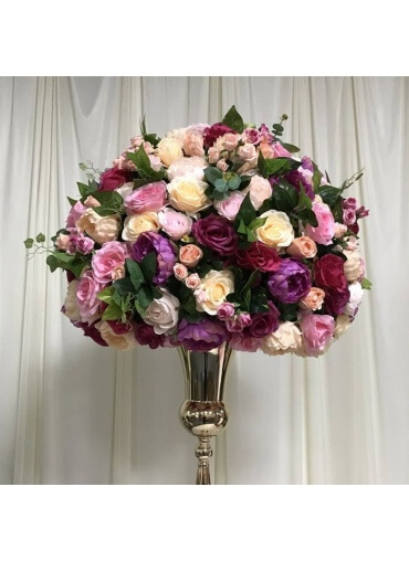 70cm Purple Yellow & Pink flowerball hire
