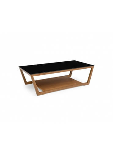 Calligaris Element Coffee Table Black with with White Glass Top
