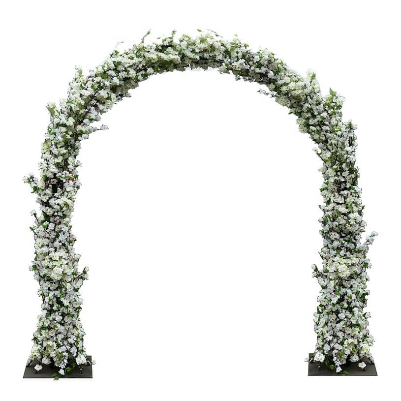 Outdoor chair rentals - Cherry Blossom Flower Wedding Arch White For Hire