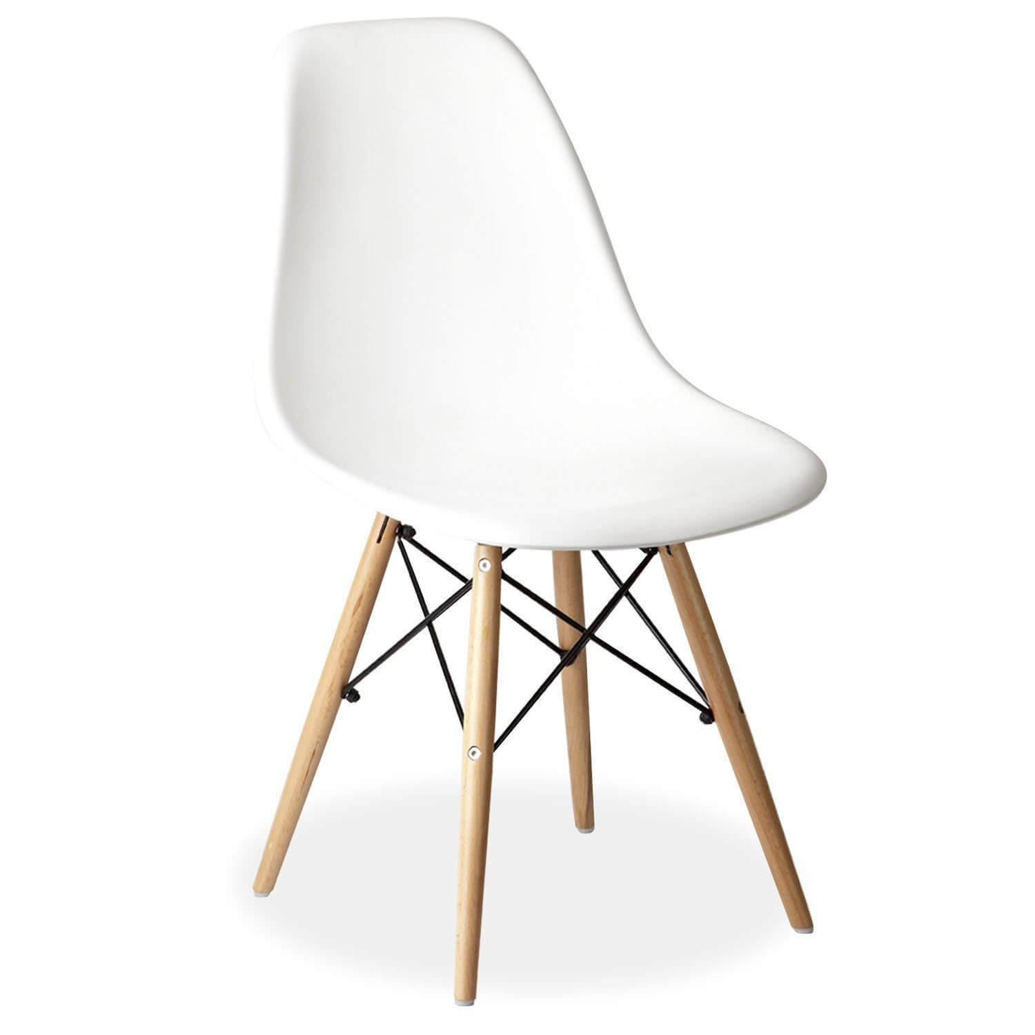 white eames style dsr wooden eiffel chair for hire. Black Bedroom Furniture Sets. Home Design Ideas