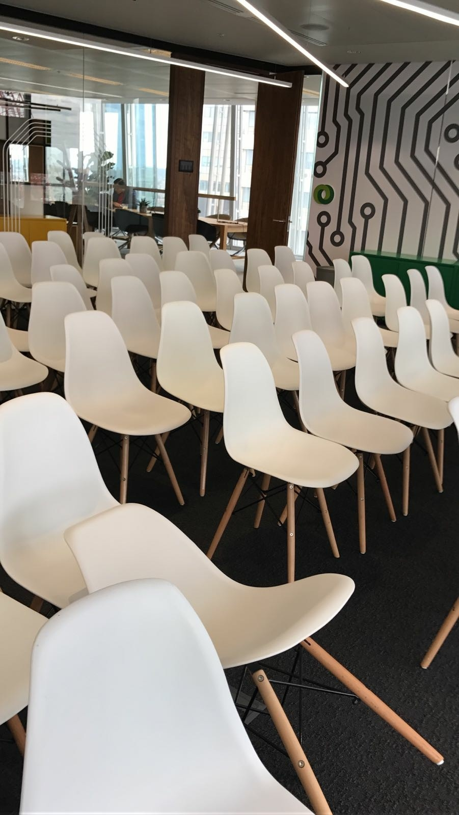 White eames chair for hire