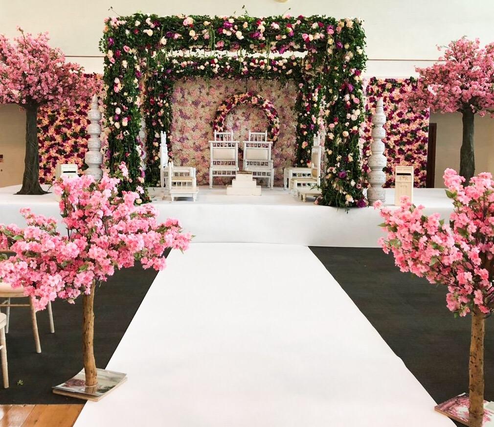 Floral Mandap Entrance