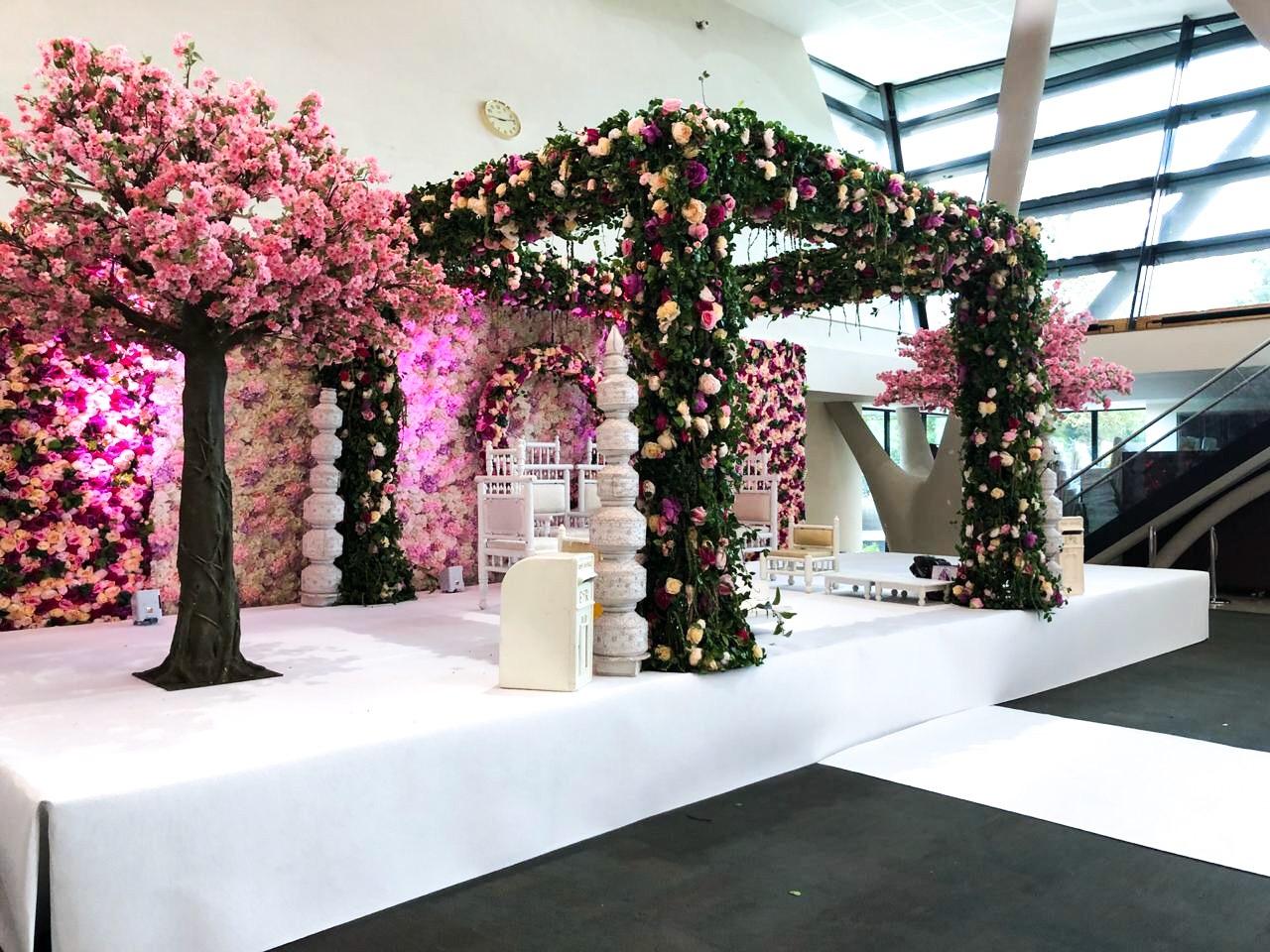 Pink Floral Mandap